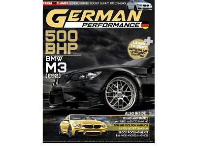 """German Performance"" Magazine and Logo color logos logo design cars car magazine art brand business vector logo illustration design branding magazine cover"