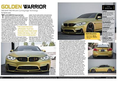 """Golden Warrior"" Magazine Spread vector logo illustration design business branding brand art newspaper newsletter article spread photography typography magazine"