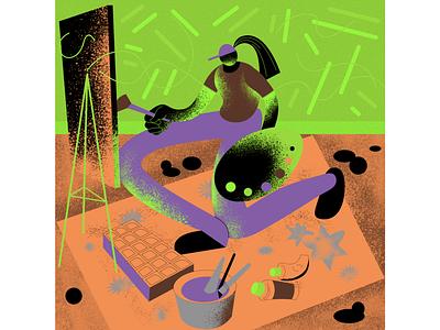 sketching design illustration