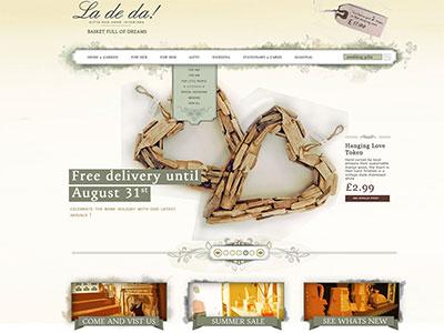 Ladeda Dribble ux design ui design web design