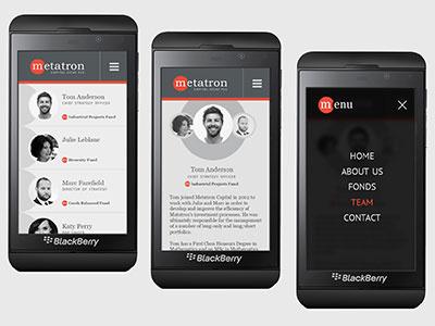 Corporate Webdesign Metatron Capital Mobile View flat modern website ux mobile ui responsive