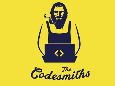 Codesmiths Logo illustration typography flat vector brandong logo
