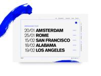 002 // HelloI'mSoBluesy // Tour