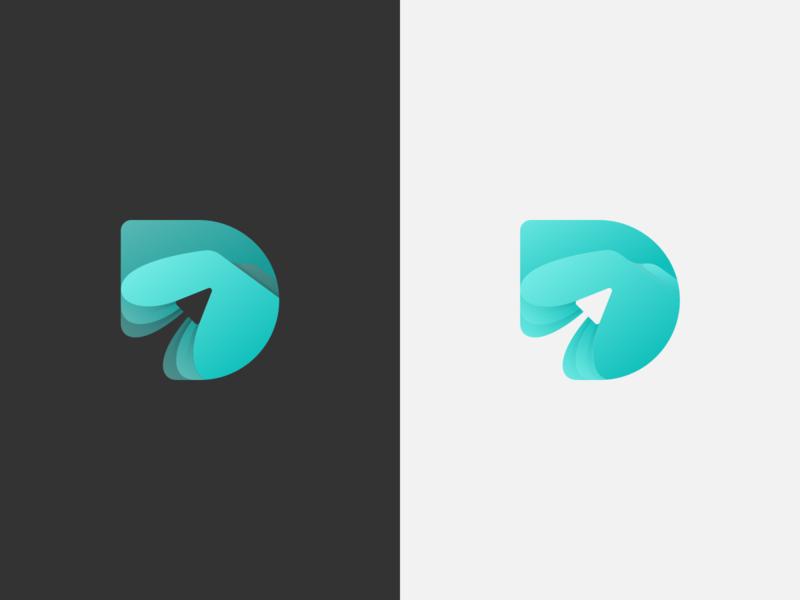 DSA Practice logomark teal landscape branding logo logomark hills paper airplanes