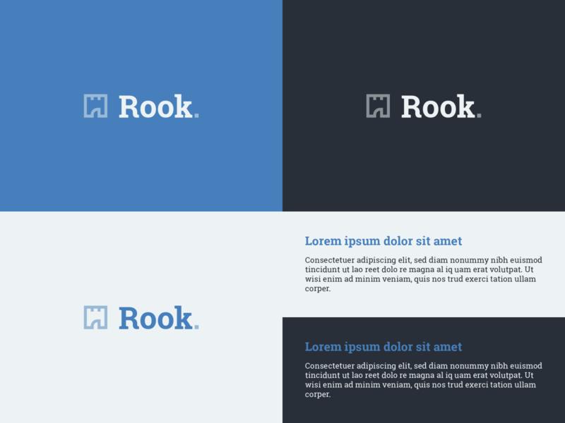 Rook.agency branding blue planning construction floor plan castle identity brand logomark logo