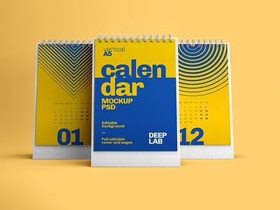Desk Calendar Mockup Set graphic design design ux mock-up download branding psd mockup schedule organizer table date business month year spiral desk paper calendar office
