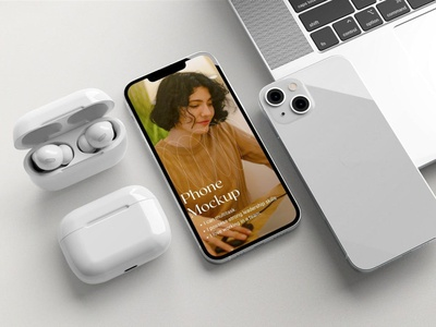 iPhone 13 Mockups download ux ui presentation display simple clean realistic phone mockup smartphone device mockup abstract phone screen ios apple iphone 13 pro iphone 13 iphone