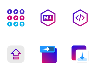 Six Eager App Icons icon apps icons eagerio eager.io eager
