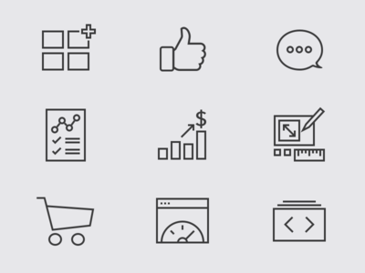 Eager Categories Icons