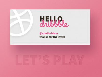 Hello dribbble, 1st shot ticket basketball draft invite debuts shot 1st dribbble hello
