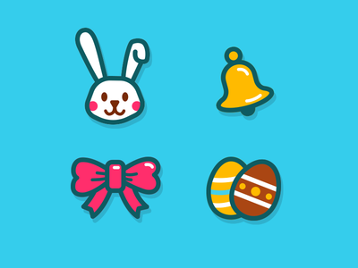 App of the Day - Easter (Icons) icons schedule rabbit orange egg easter design day daily calendar blue app
