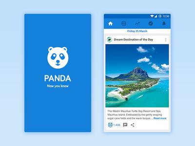 Panda - Home android application ux ui feed home design material panda