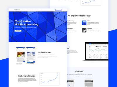 Nativeo - Landing Page webdesign ux ui responsive pag nativeo native landing blue advertising