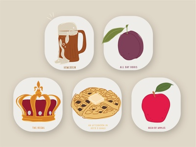 Beer/Kombucha Tap Labels vector labels logo aotearoa branding digital graphic design illustration icons kombucha beer