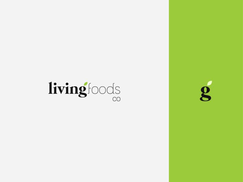 Living Foods Co typography illustration brand identity market farms leaflet identity logo branding