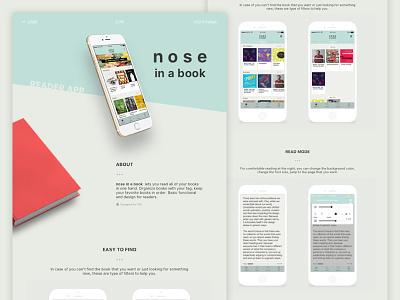 Nose in a book ebook iphone mobile application ui uidesign uxdesign