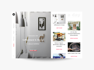 Online Magazine page layout clean minimal ux interaction magazine web webdesign ui