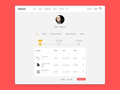 Checkout Cart profile layout e-commerce web ux ui