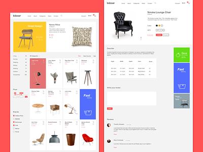 Product Categories & Detail categories layout e-commerce web ux ui