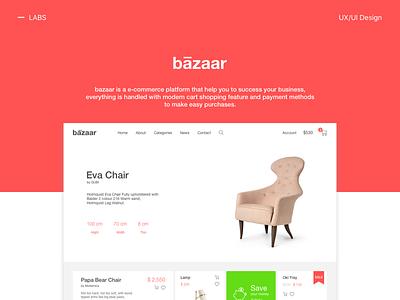 bazaar - main cart checkout clean layout e-commerce web ux ui