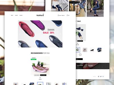 Shoe store parallax store e-commerce ux ui web design