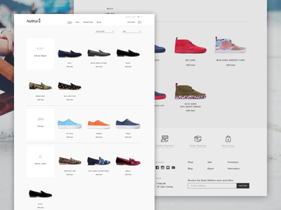 Shop product minimal layout commerce shoe shop store web ux ui