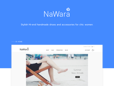 NaWara - Shoe store product detail online store e-commerce ui web handmade woman shoe shoe store