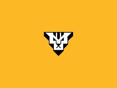 T-Tiger letter t geometric simple head face tiger design brand logo