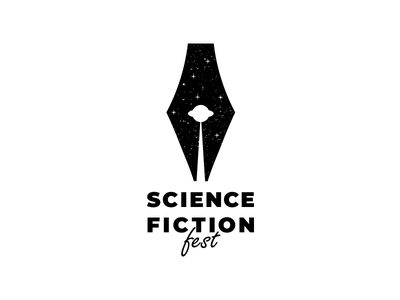 science fiction science fiction ufo clever pen branding vector design brand logo