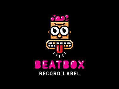 Beatbox character mascot music zombie man beatbox branding illustration funny vector design brand logo
