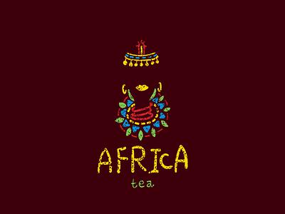 Africa woman etnic tea african woman africa branding illustration vector design brand logo