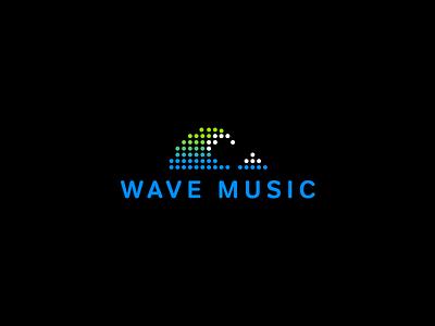 wave music music wave fuji simple branding vector design brand logo