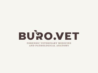 buro.vet veterinary clever microscope lettering simple branding illustration vector design brand logo