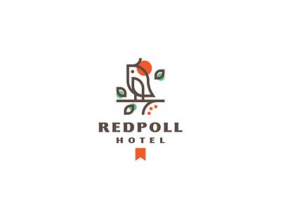 Redpoll lineart redpoll bird simple branding vector design cute brand logo