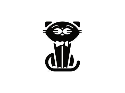 Gentle Cat animal bow-tie cat gentle logo