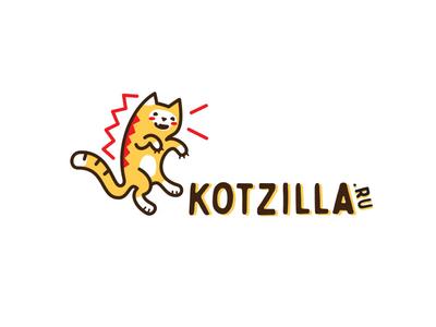 Kotzilla pet cut godzilla funny brand logo cat