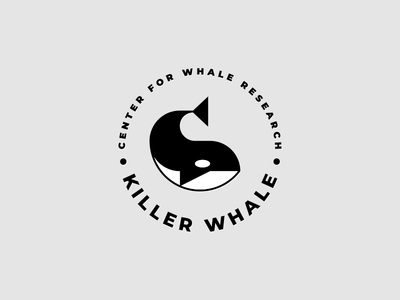 killer whale geometic simple black  white eco ocean sea brand logo whale killer whale