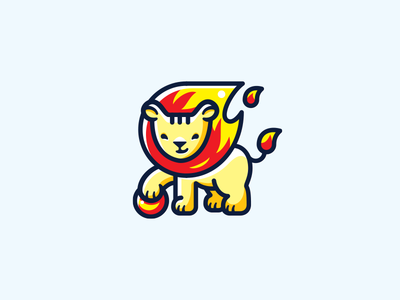 Profilance Group classical fire lion funny cute brand logo