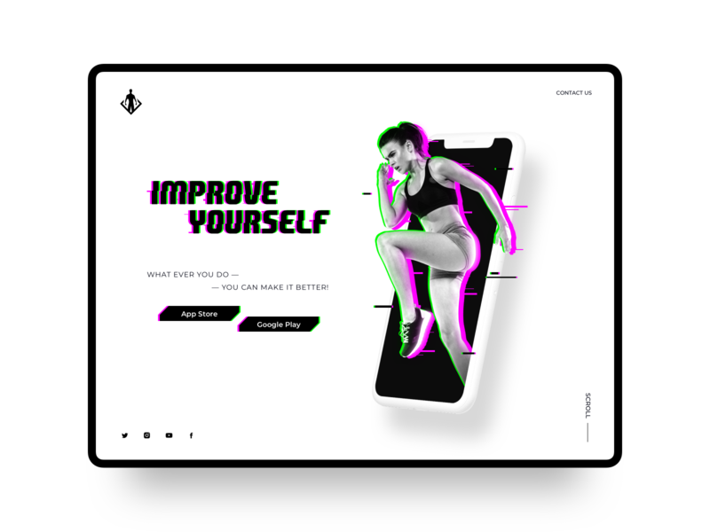 Sports App Landing Page UI Concept web app ux ui ui concept workout training statistics sport design interface health gym app fitness calisthenics physical training