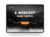 Landing Page for a Fitness App app video workout web ux ui sport parallax main landing interface gif fitness animation