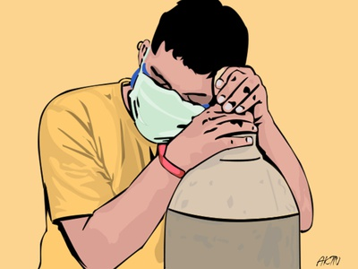 When We need Oxygen in Myanmar design illustration