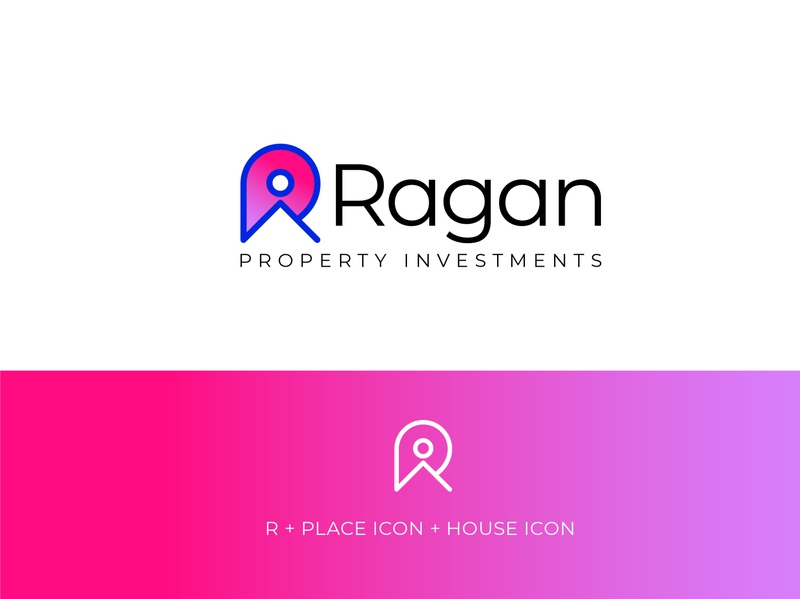 Logo for property investments business logoicon real estate vibrant colors logo design icon identity brand property investment house logo place r logo logo