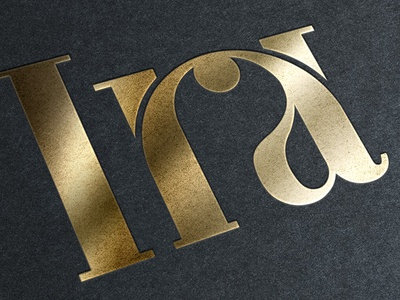 Ira - Real estate brand bodoni font typography corporate identity logo brand real estate ira