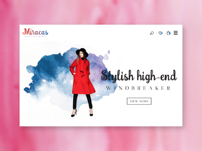 Miracas - ecommerce visual design brush paint watercolor logo ecommerce identity branding responsive web ux ui visual design
