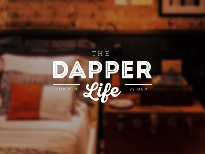 Dapper Decor Logo intro ivandd logo style classy vintage masculine by man for man life decor dapper