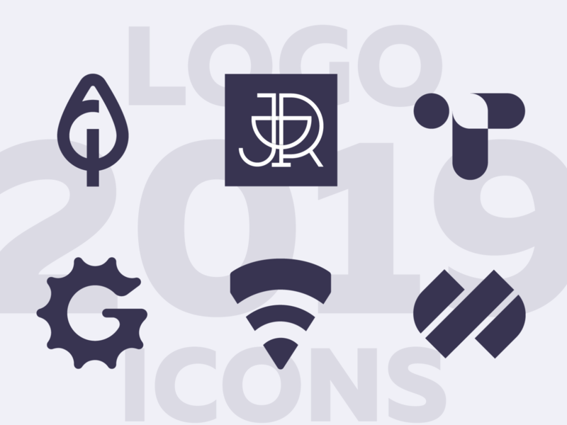 New logo collection 2019 collection one-color negative space logo 2019 trend visual design graphic design design concept brand icon typography branding identity logo