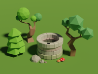 Low poly art in Blender lowpoly blender3d 3dmodeling 3dart 3d