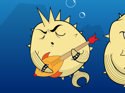 Openbsd Songs - Album cover detail cd cover rock ocean metal kaos illustration fishes fish drawing cover chaos band