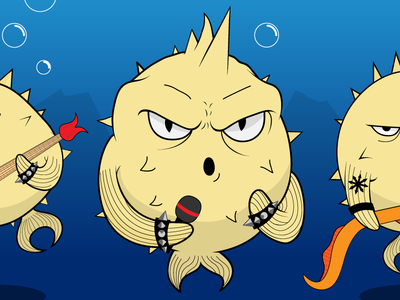 Openbsd Songs - Album cover detail 2 cd cover rock ocean metal kaos illustration fishes fish drawing cover chaos band