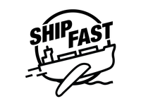 Ship Fast t-shirt art